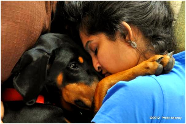 Preeti Shenoy with her best friend 'Lostris'.